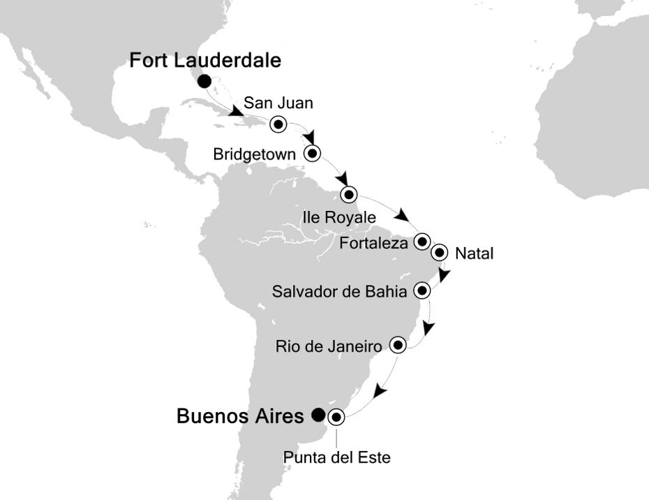 4001 - Fort Lauderdale a Buenos Aires