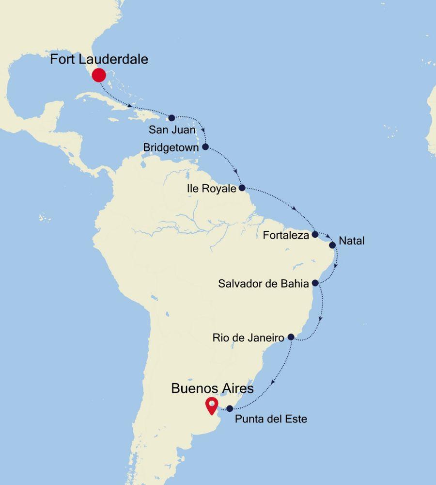 4001 - Fort Lauderdale à Buenos Aires