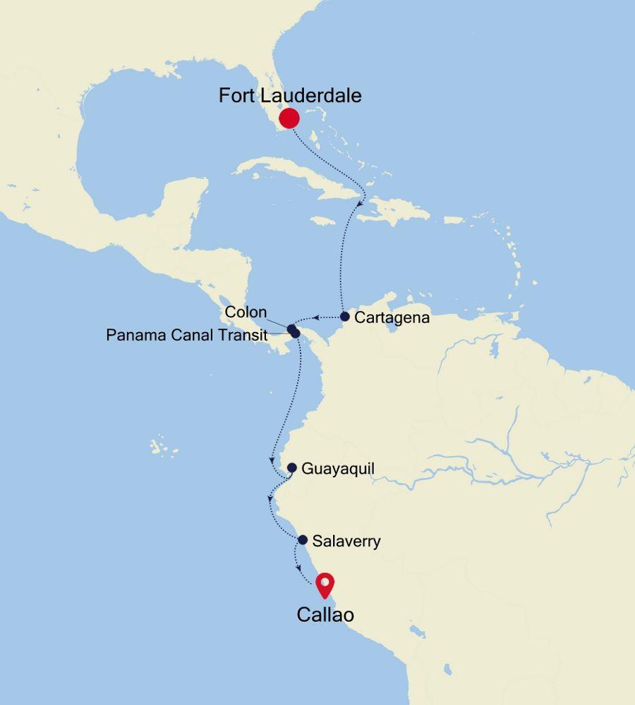 3001 - Fort Lauderdale nach Callao