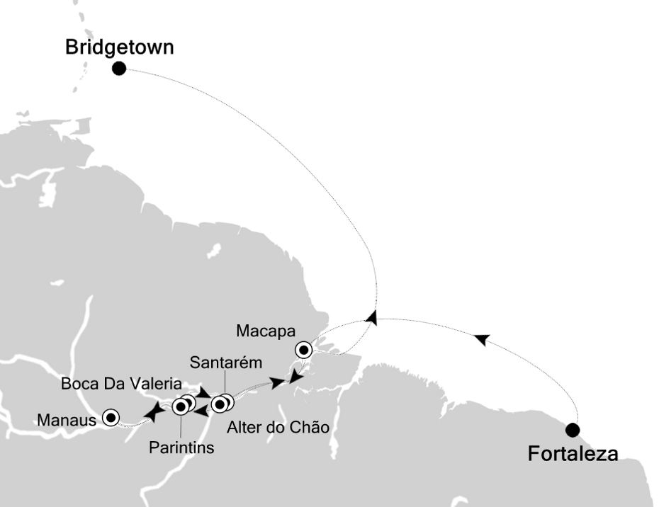 6804H - Fortaleza to Bridgetown