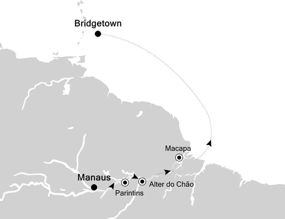 6804F - Manaus a Bridgetown