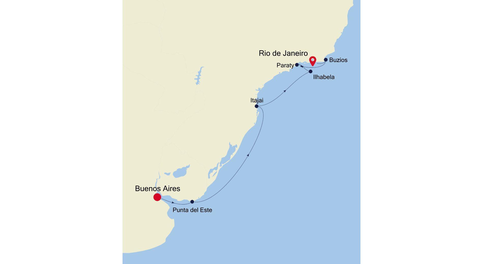 MO210214010 - Buenos Aires à Rio de Janeiro