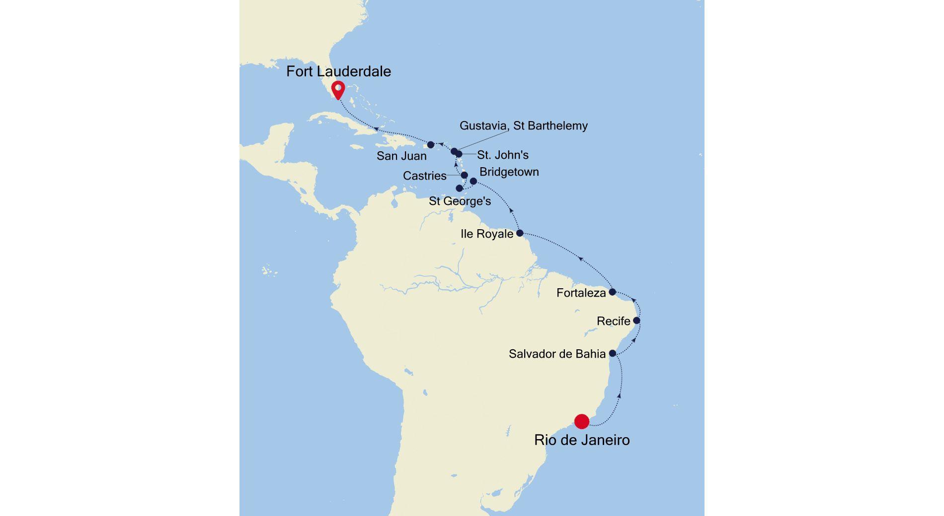 MO210224021 - Rio de Janeiro a Fort Lauderdale