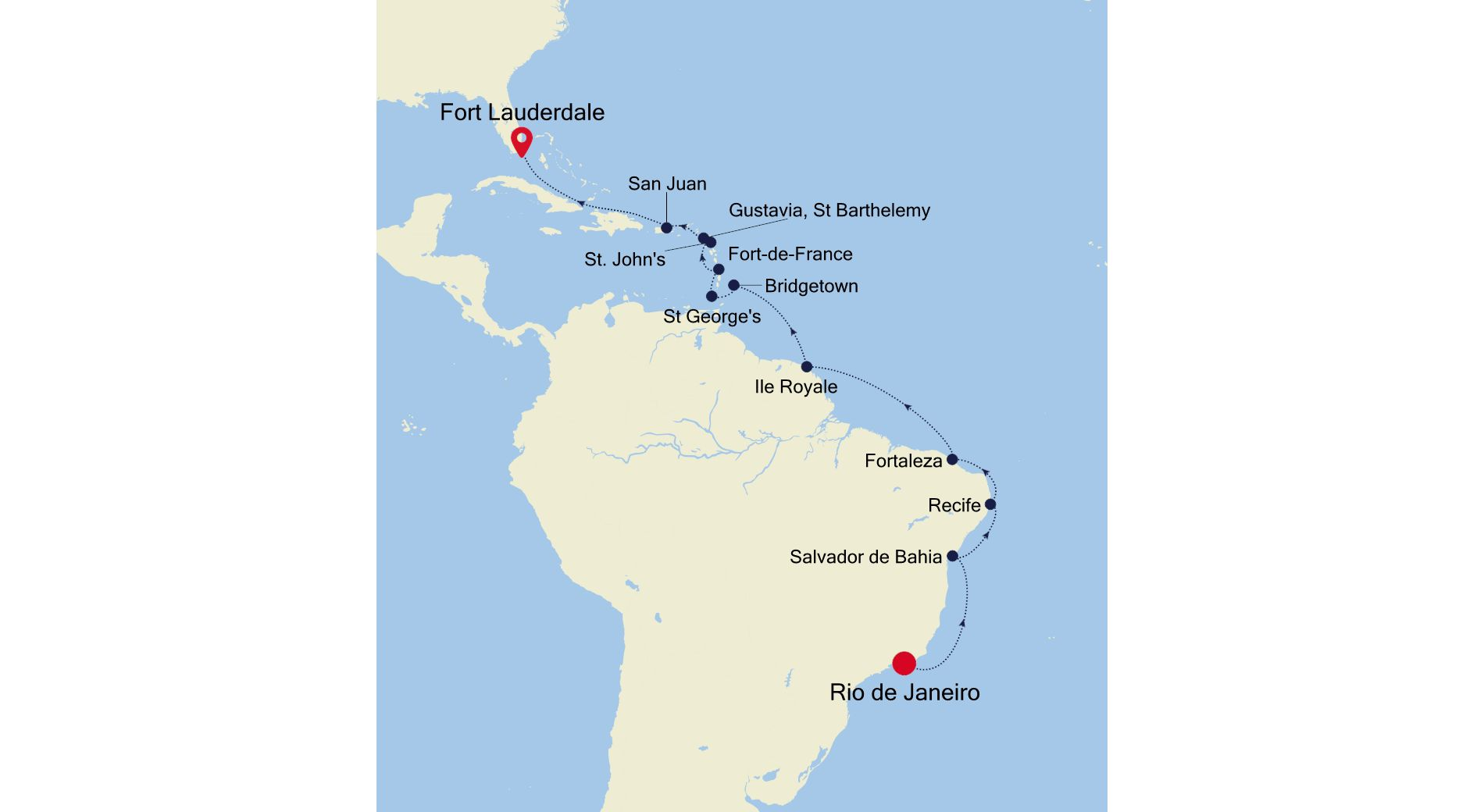3004 - Rio de Janeiro nach Fort Lauderdale