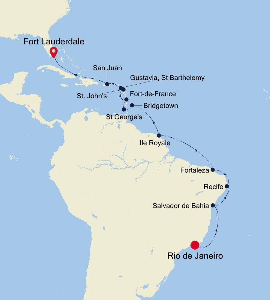 3004 - Rio de Janeiro a Fort Lauderdale