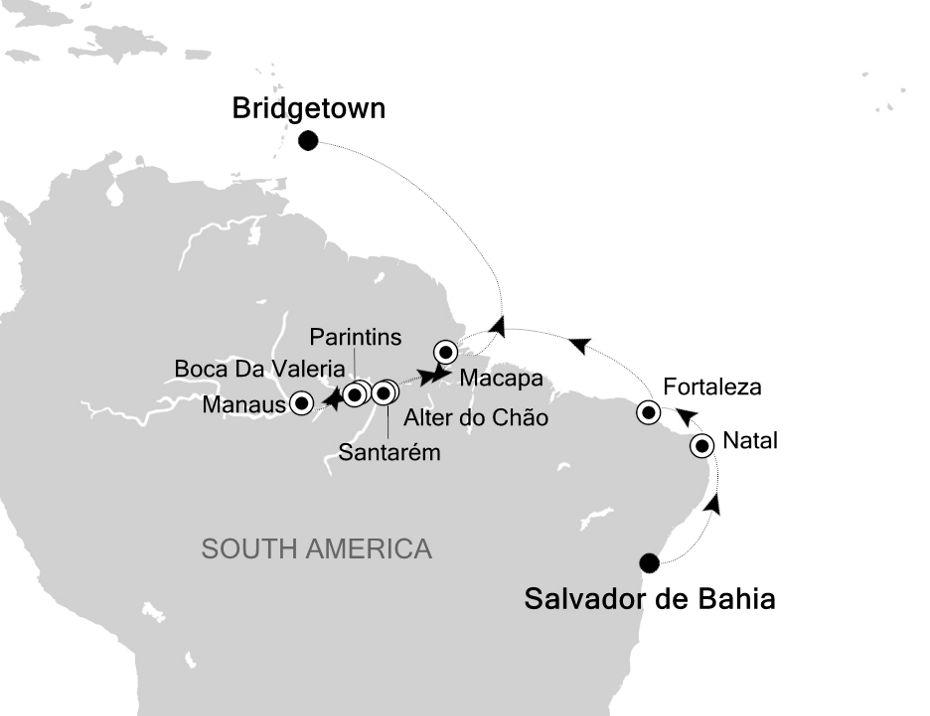 6804G - Salvador de Bahia nach Bridgetown