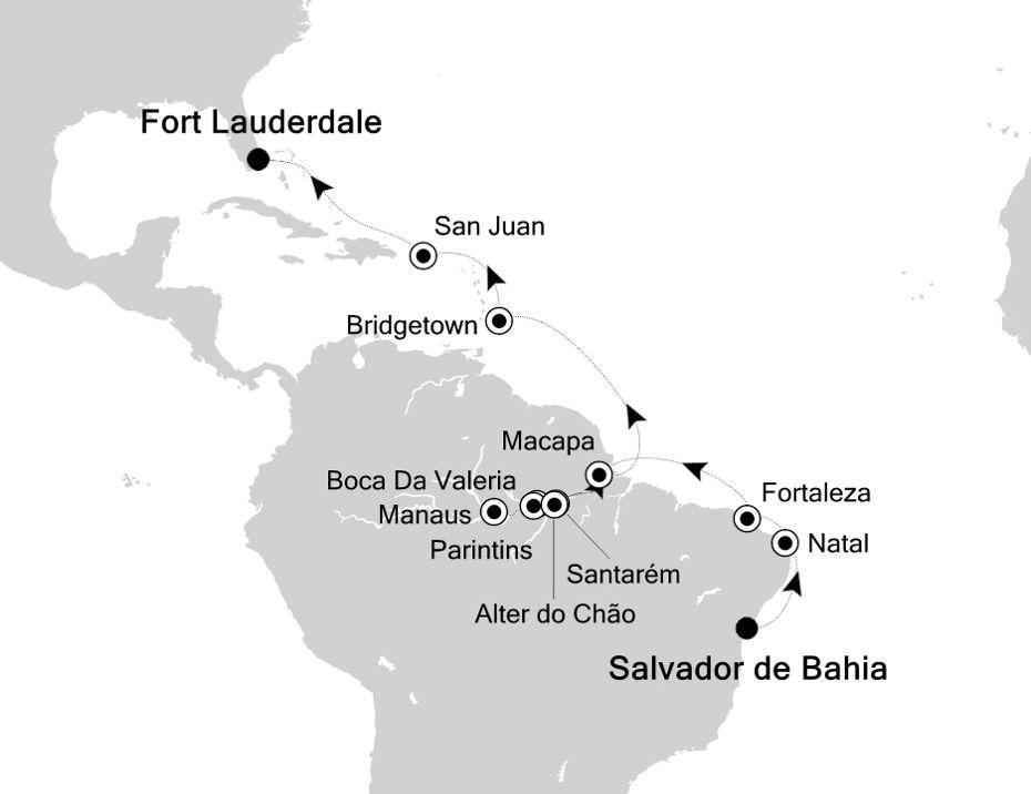 6804C - Salvador de Bahia a Fort Lauderdale