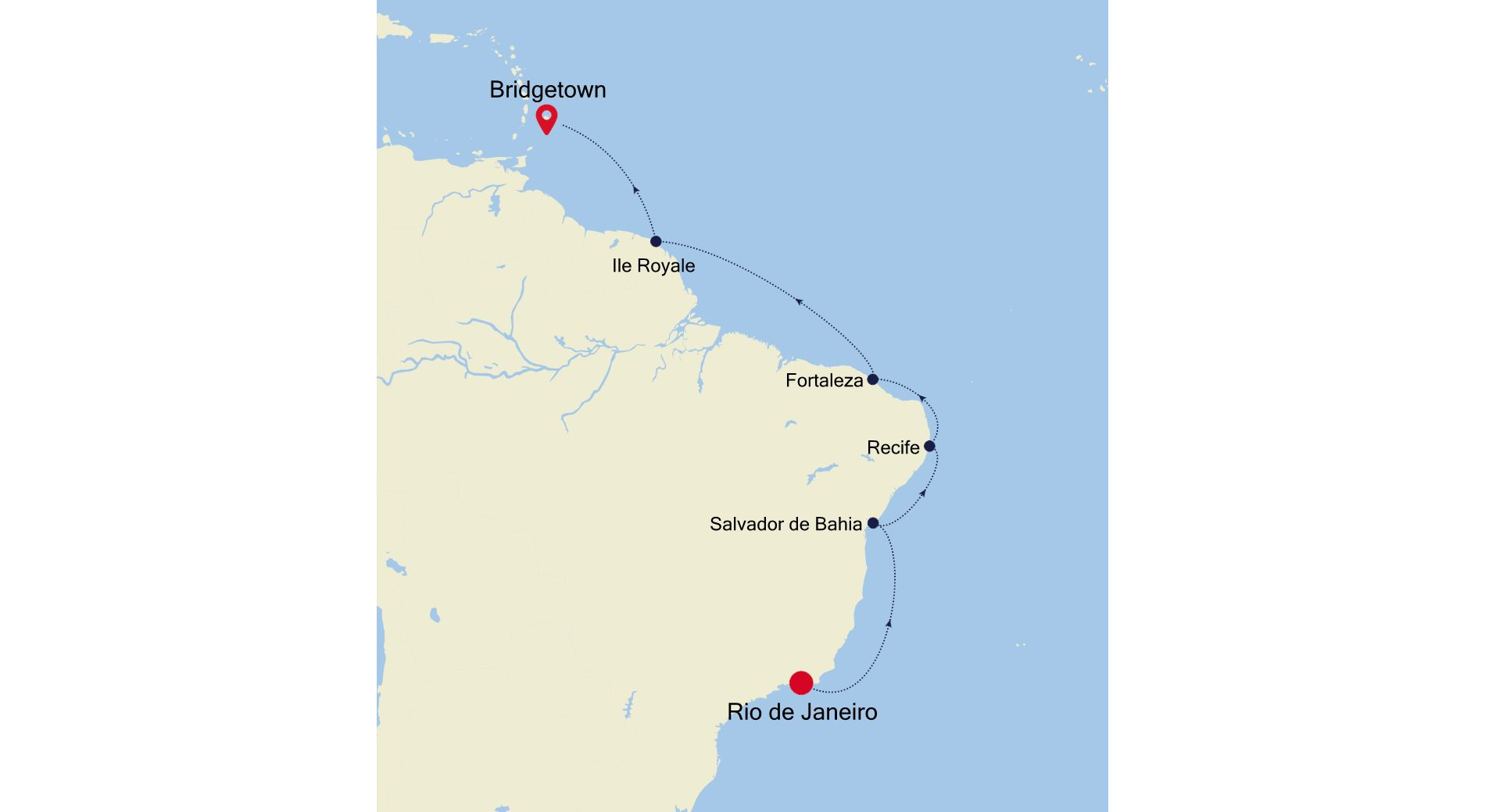 3004A - Rio de Janeiro nach Bridgetown