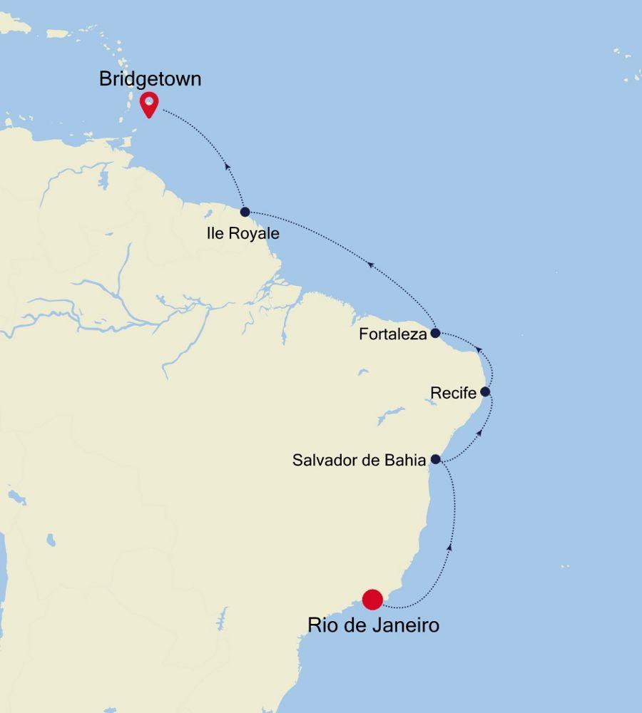 3004A - Rio de Janeiro à Bridgetown