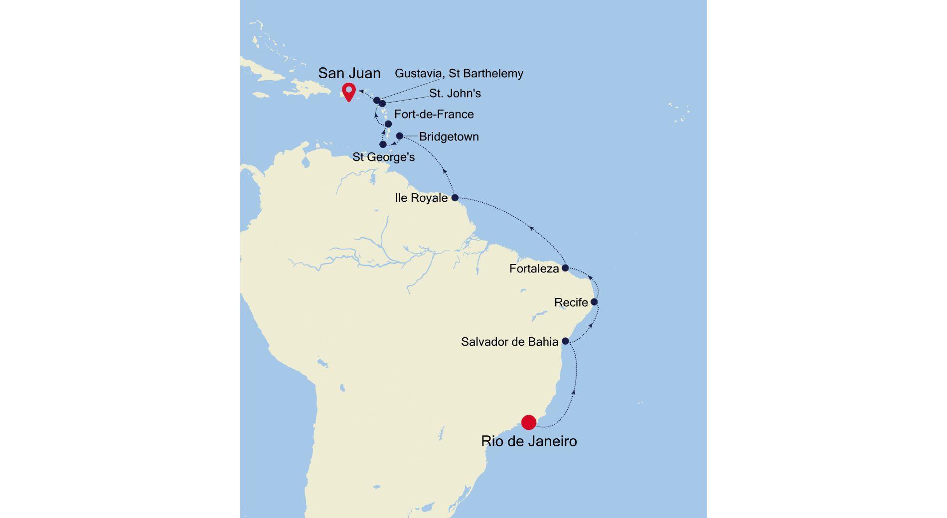 3004C - Rio de Janeiro to San Juan