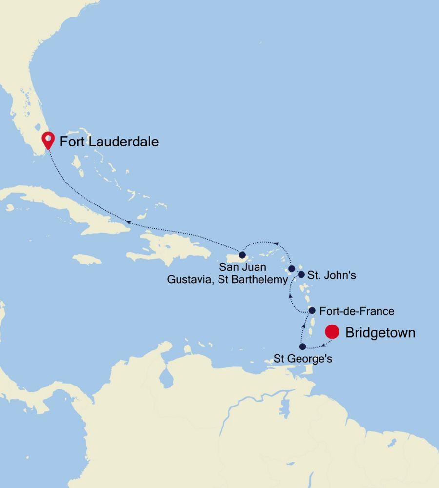 3004B - Bridgetown nach Fort Lauderdale