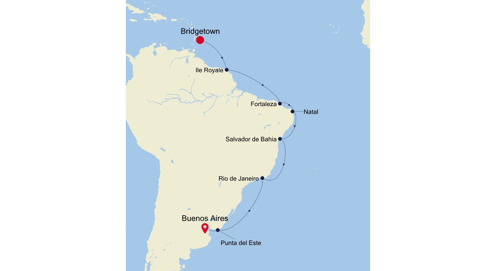 4001A - Bridgetown a Buenos Aires