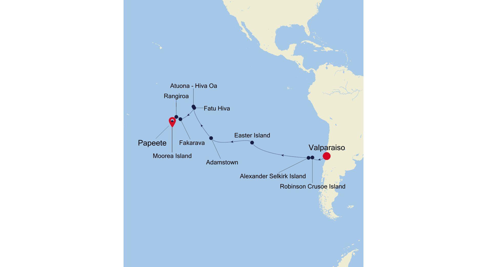 E4210217022 - Valparaiso a Papeete