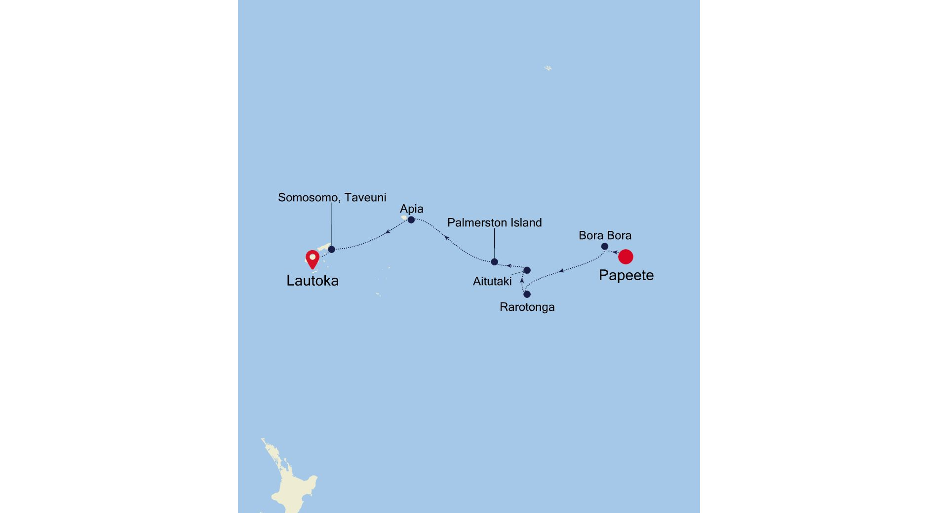 E4210311011 - Papeete nach Lautoka