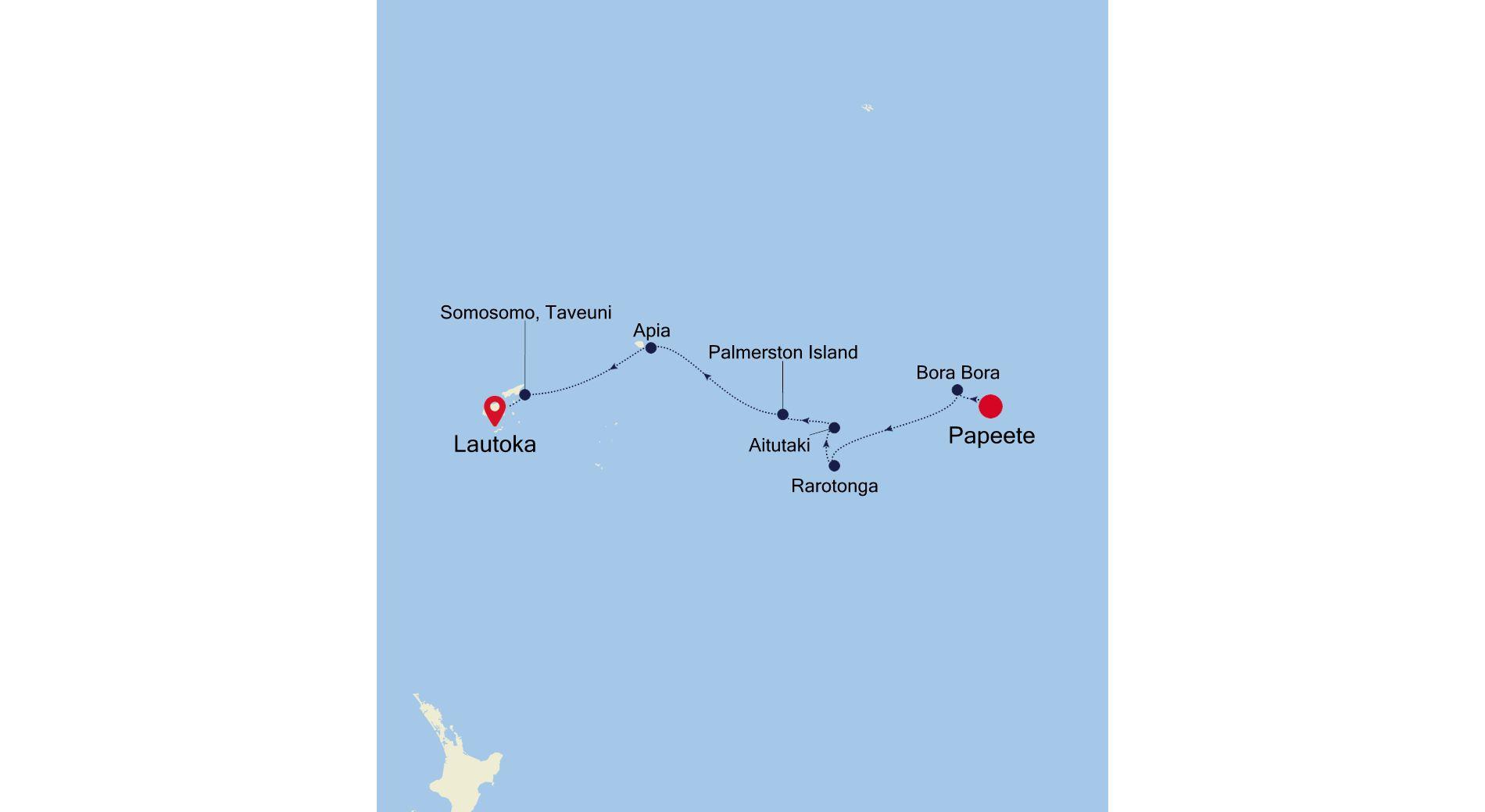 E4220306011 - Papeete a Lautoka