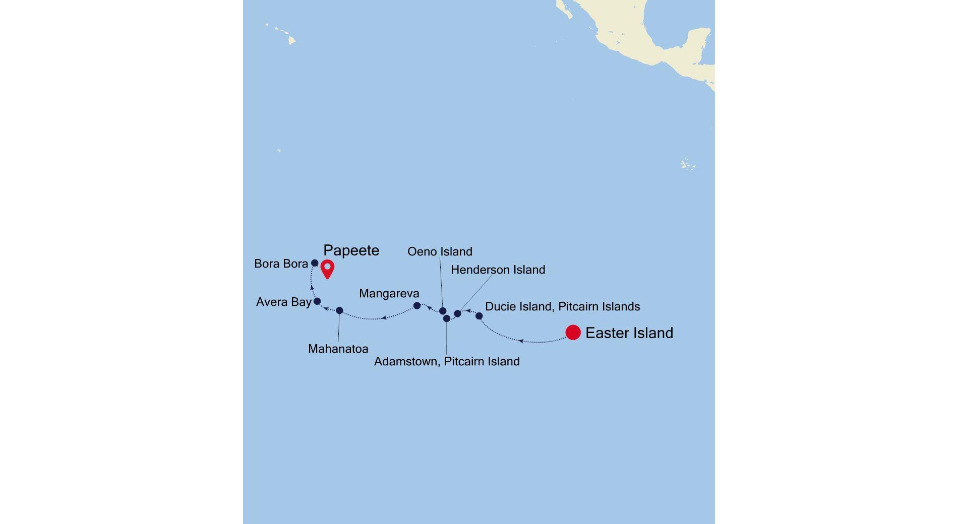7906 - Easter Island a Papeete