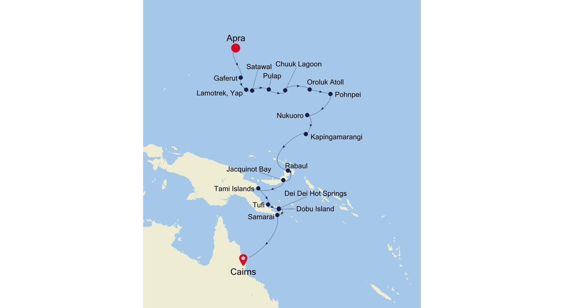 E1210409019 - Apra to Cairns