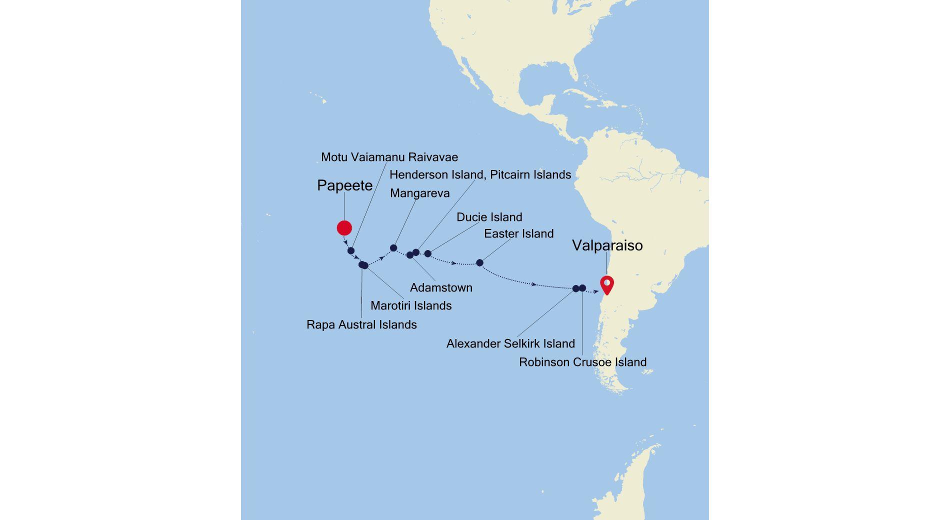 E1211007022 - Papeete to Valparaiso