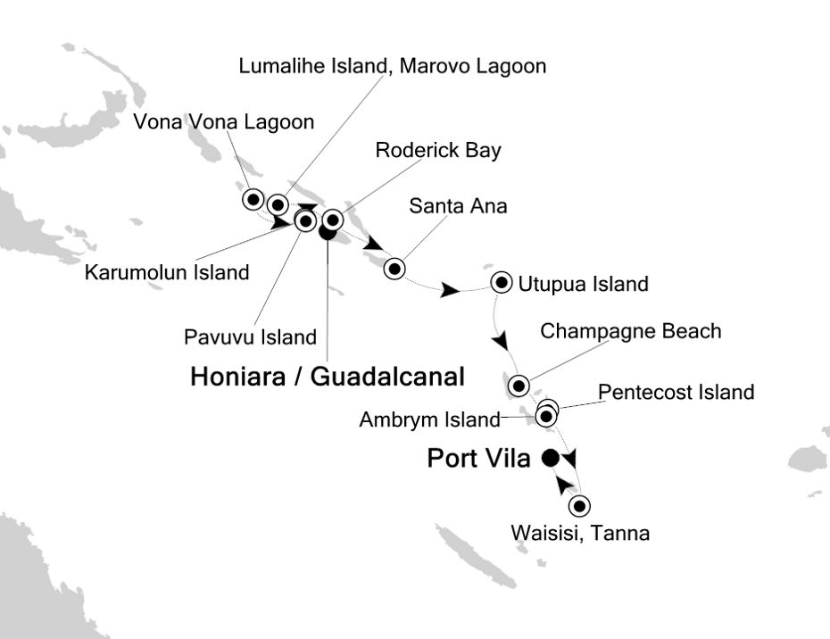 9812 - Honiara / Guadalcanal to Port Vila