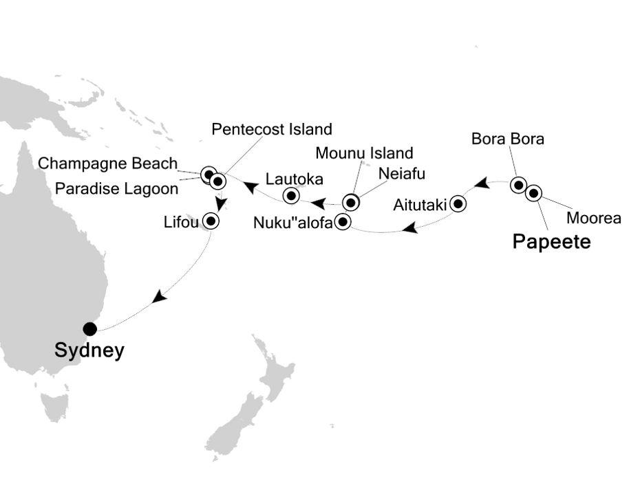 4004 - Papeete to Sydney