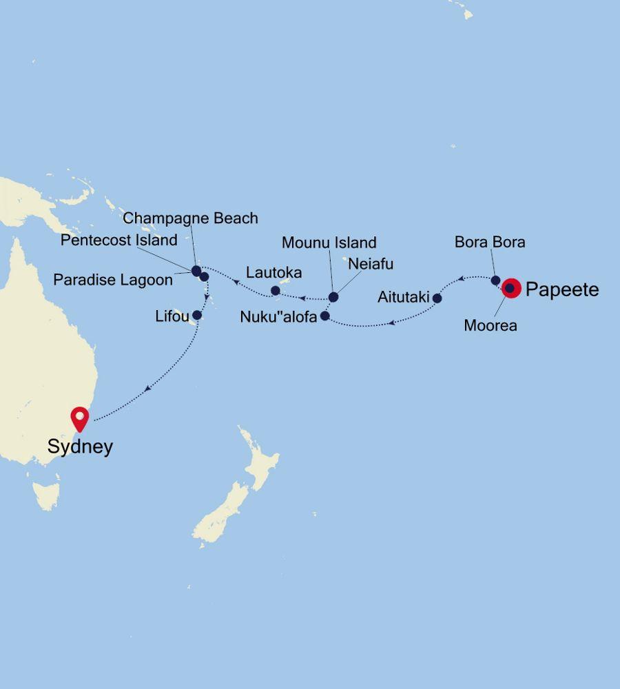 4004 - Papeete nach Sydney