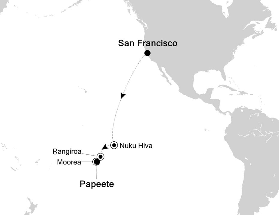 4901 - San Francisco à Papeete