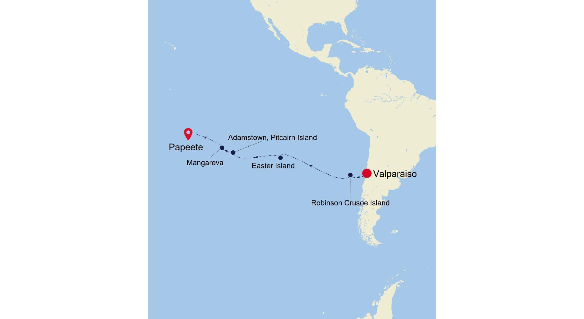 4003 - Valparaiso to Papeete