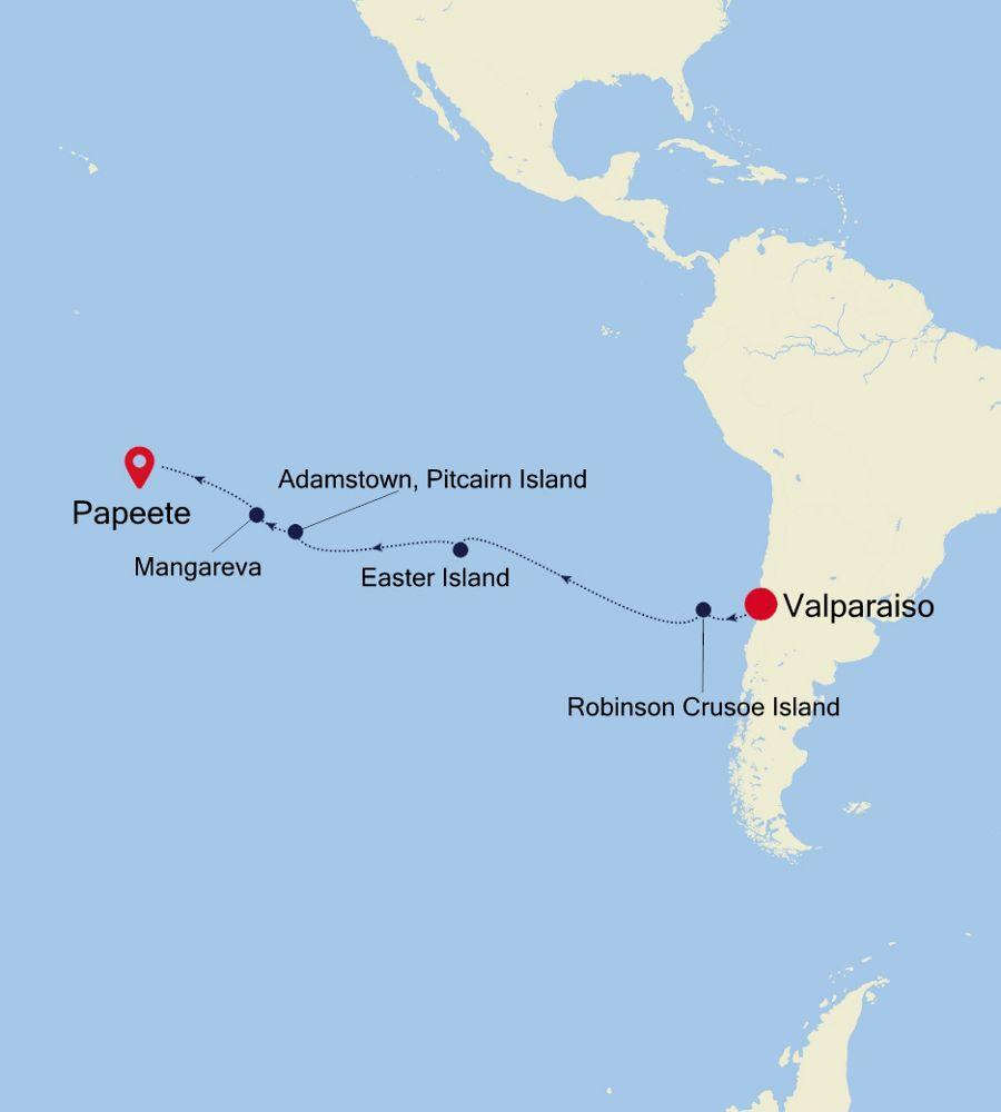 4003 - Valparaiso a Papeete