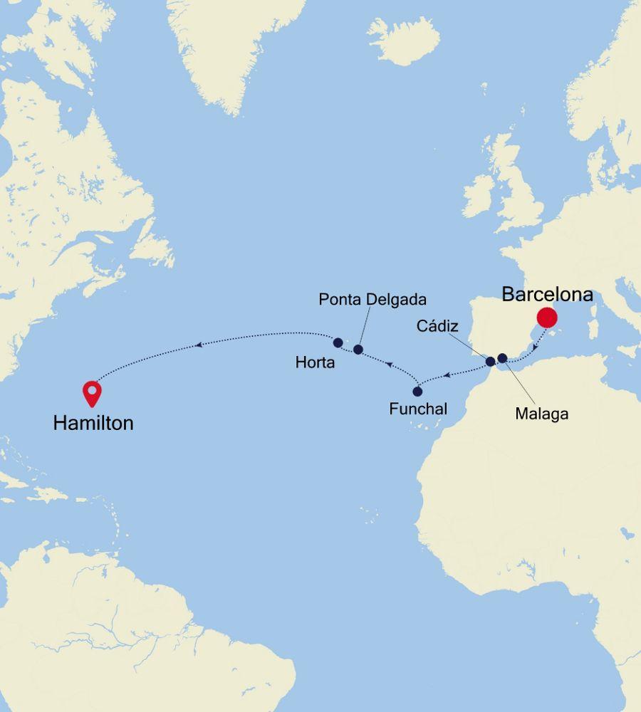 WH200908013 - Barcelona nach Hamilton