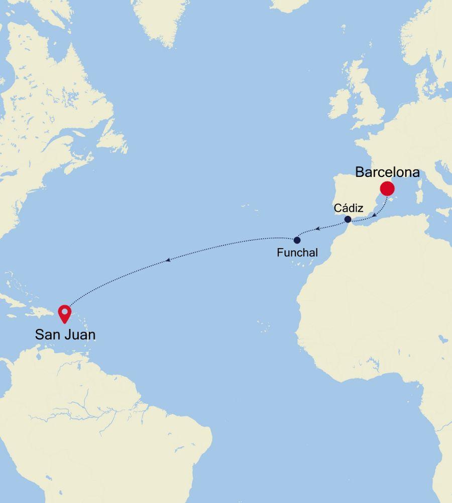 SS201110012 - Barcelona nach San Juan