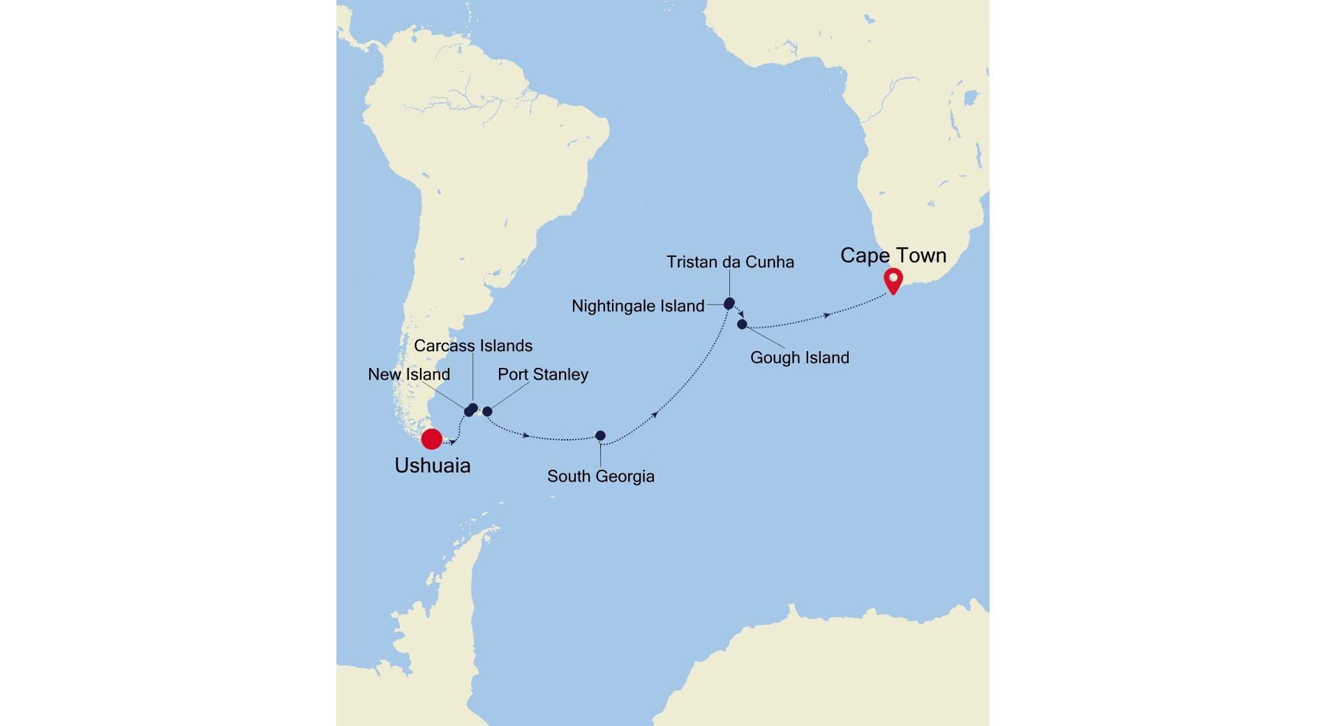 E4210319021 - Ushuaia nach Cape Town