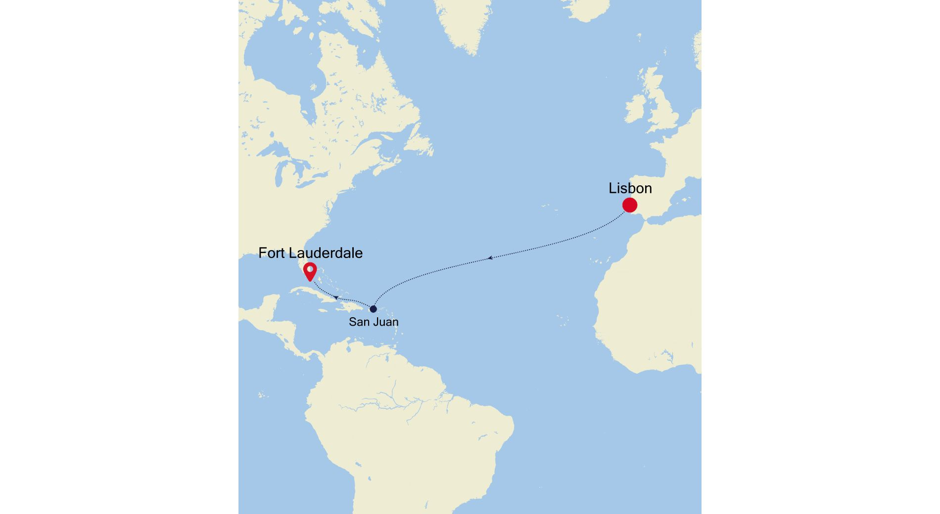 DA211102013 - Lisbon to Fort Lauderdale