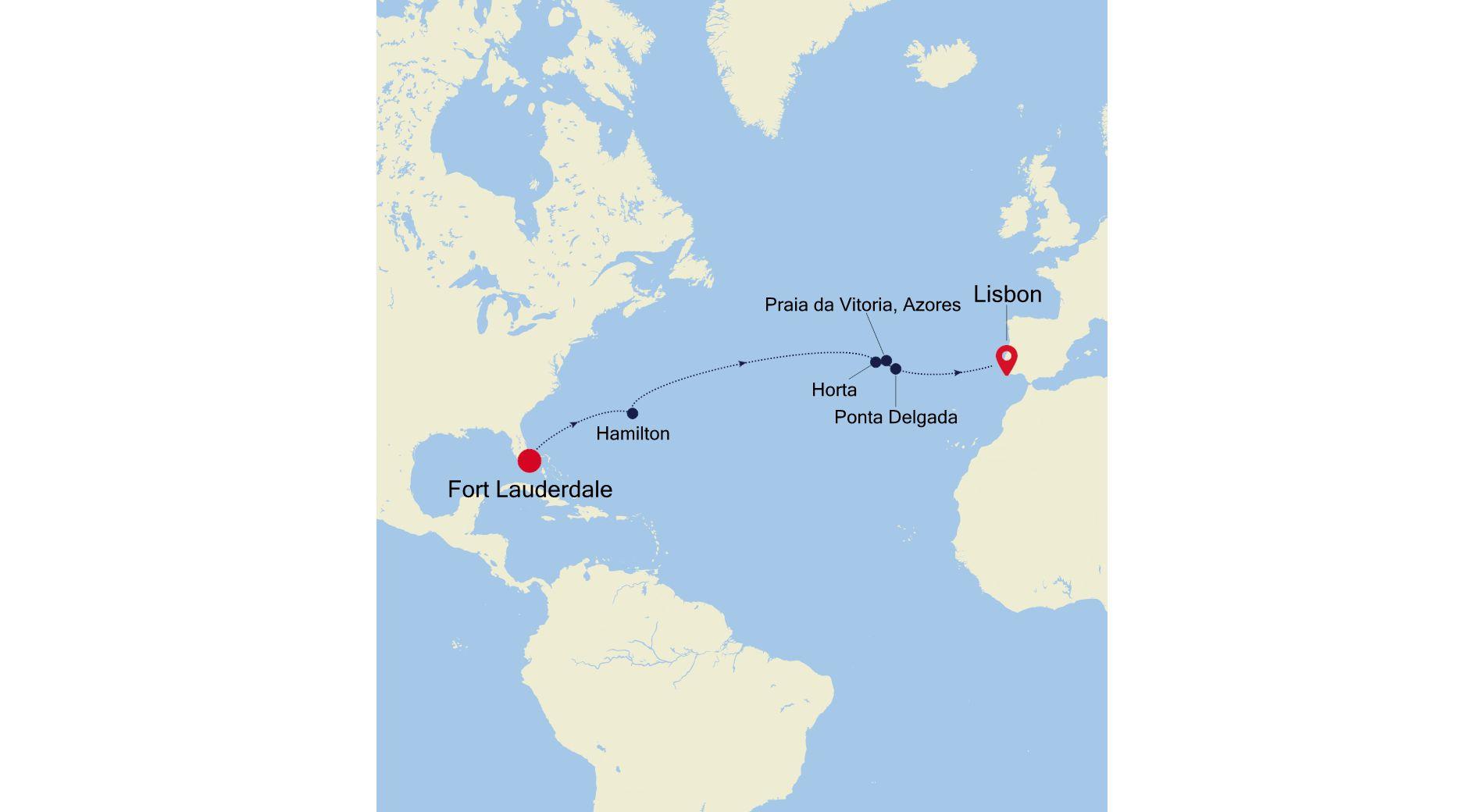DA220318014 - Fort Lauderdale à Lisbon