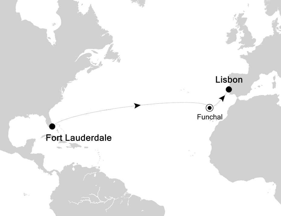 3005 - Fort Lauderdale à Lisbon