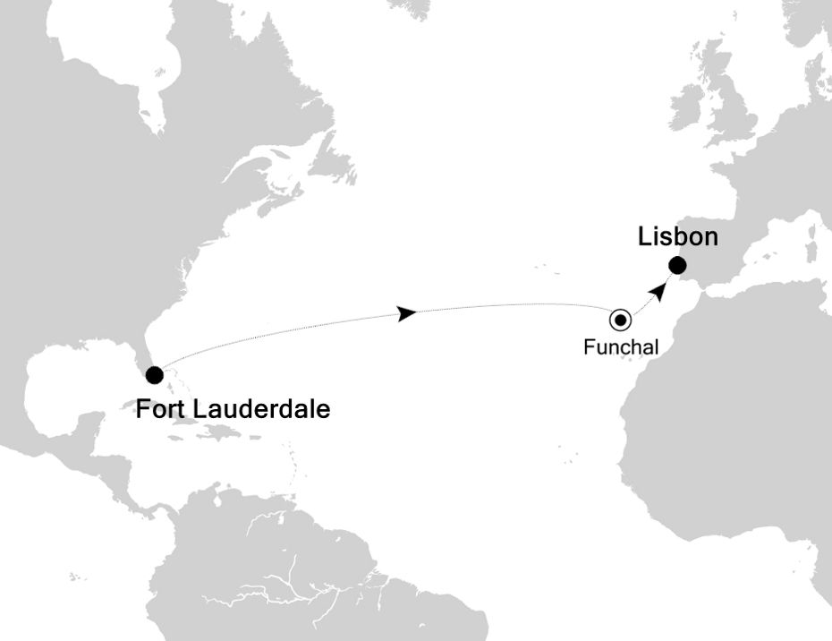 3005 - Fort Lauderdale nach Lisbon