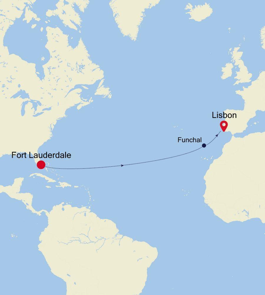 3005 - Fort Lauderdale a Lisbon