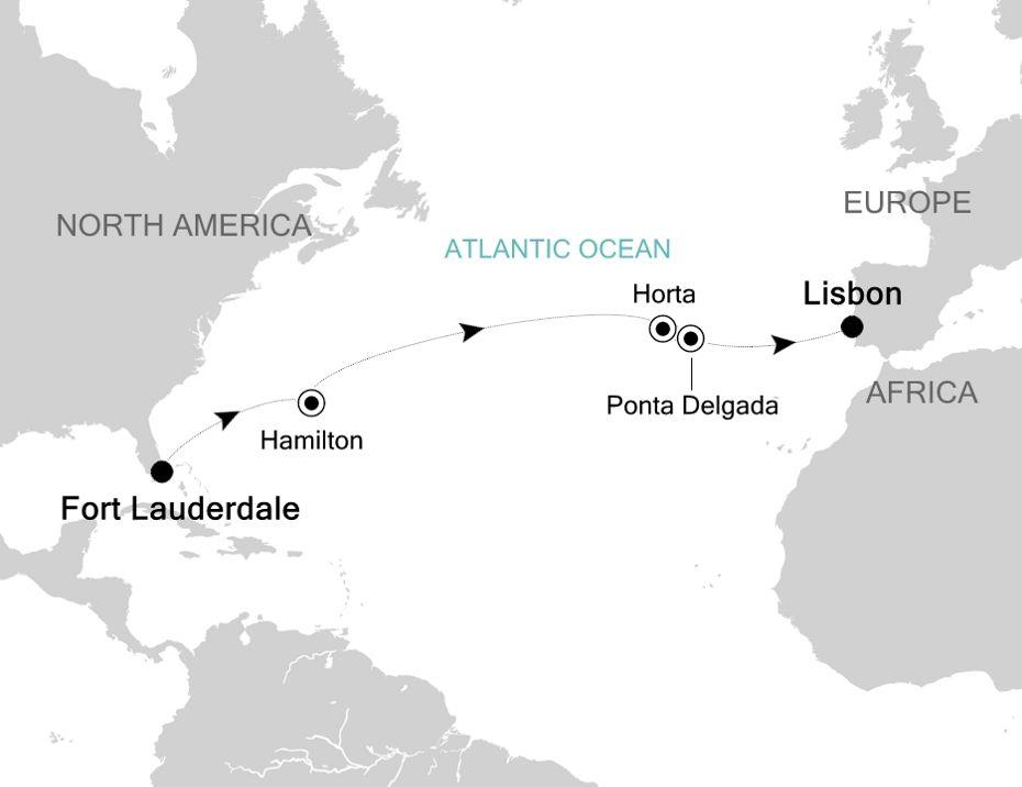 5910 - Fort Lauderdale nach Lisbon
