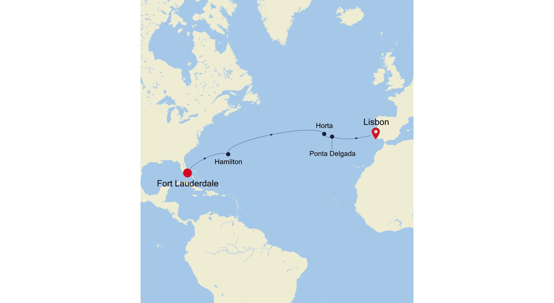 5910 - Fort Lauderdale à Lisbon