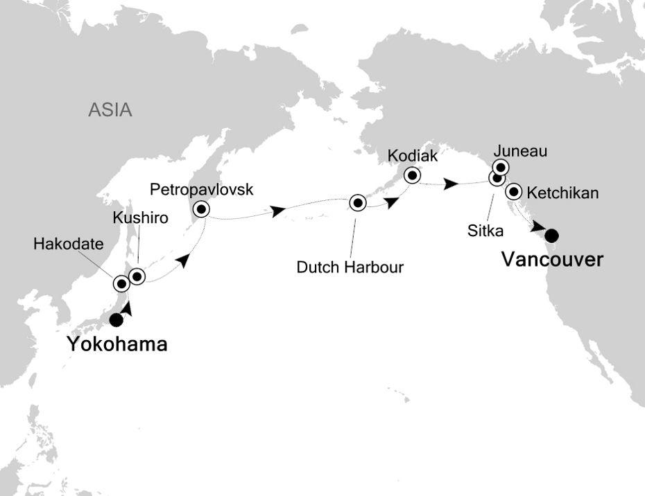 6009 - Yokohama to Vancouver