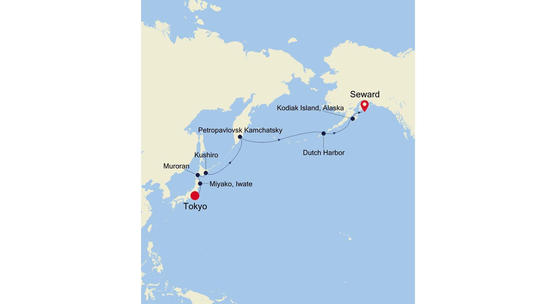 SM220506014 - Tokyo nach Seward (Anchorage
