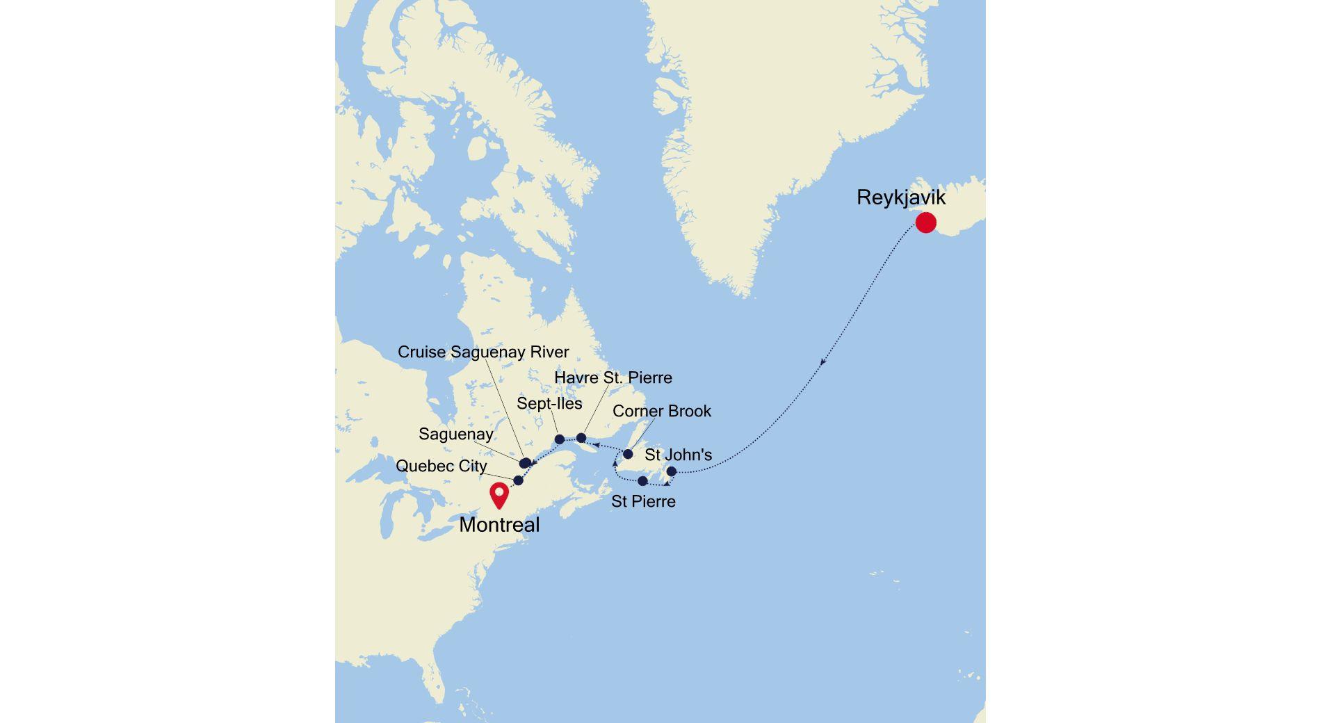 2925 - Reykjavik to Montreal