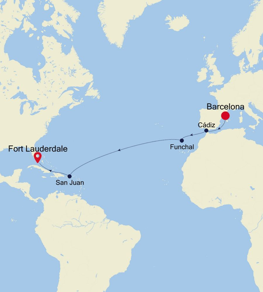SS201110015 - Barcelona nach Fort Lauderdale