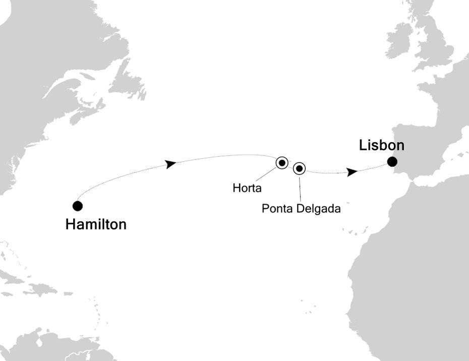 5910B - Hamilton nach Lisbon