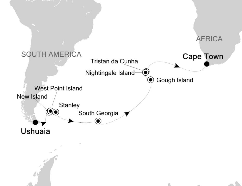 1907 - Ushuaia nach Cape Town