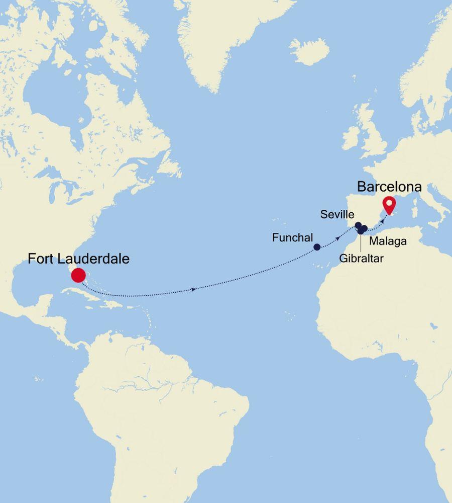 SW200406016 - Fort Lauderdale nach Barcelona
