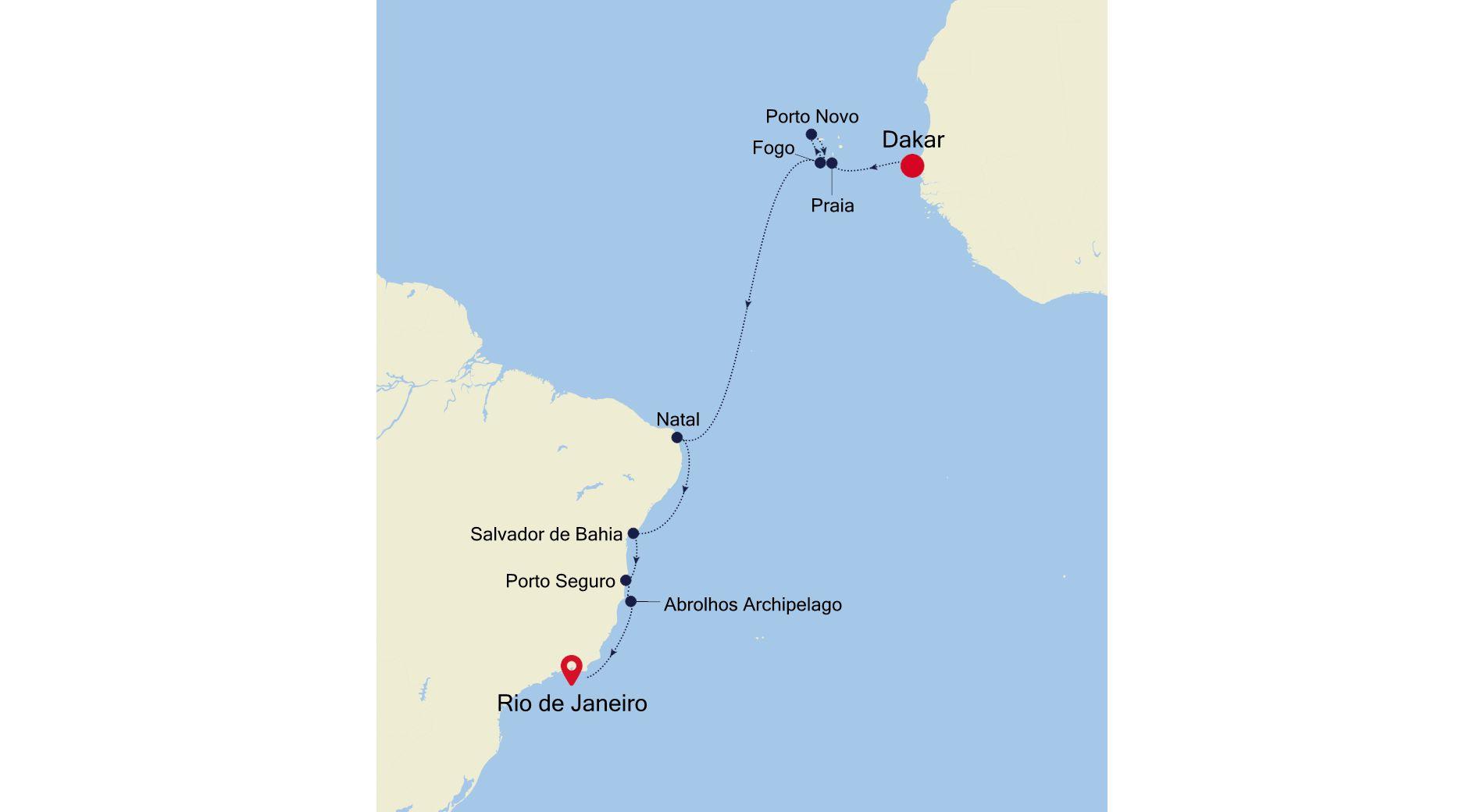 WI211029S15 - Dakar to Rio de Janeiro