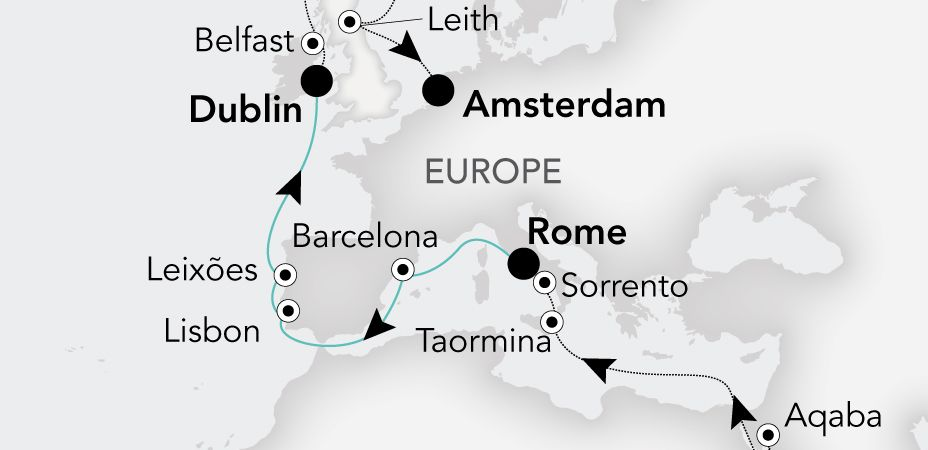 From 06 May To 15 May ROME (Civitavecchia) To DUBLIN
