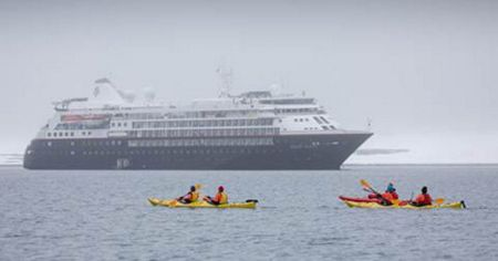 SILVER CLOUD MAKES INAUGURAL EXPEDITION TO ANTARCTICA