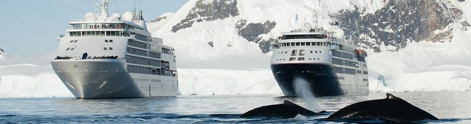 TWO SILVERSEA SHIPS MEET AS SILVER WHISPER BECOMES FIRST-EVER SHIP  TO VISIT ANTARCTICA ON A WORLD CRUISE