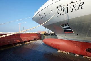 NEW SHIP SILVER DAWN FLOATS OUT IN ANCONA:  EXCITEMENT BUILDS FOR THE 10TH SHIP IN SILVERSEA'S FLEET